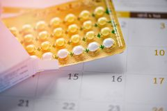 Oral Contraceptive pill Prevent Pregnancy Contraception concept royalty free stock photography
