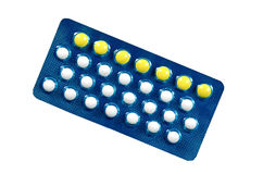 Oral contraceptive pills. Royalty Free Stock Images