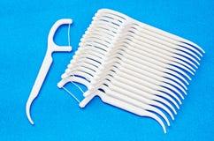 Oral Device : white dental floss. Stock Photos