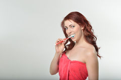 Oral hygeine / healthcare series - brushing Royalty Free Stock Photography