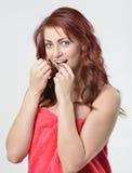 Oral hygeine / healthcare series - flossing Stock Photo