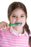 Oral hygiene. For child on white background Stock Images