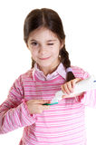 Oral hygiene. From child advice Stock Photography