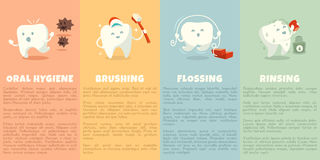 Oral hygiene booklet with cute tooth Stock Image