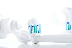 Oral hygiene, tooth brush Royalty Free Stock Photography