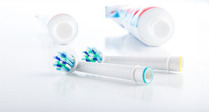 Oral hygiene, tooth brush Stock Photo