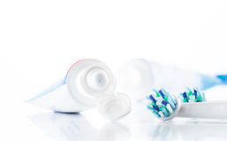 Oral hygiene, tooth brush Royalty Free Stock Image