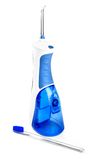 Oral irrigator and toothbrush Stock Images