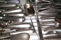 Oral surgery instruments in the sterilizer Stock Photos