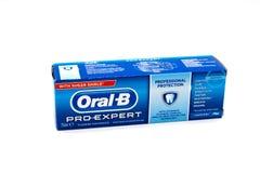 oralny pasta do zębów w Recyclable kartonie zdjęcie royalty free