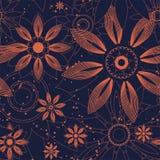 Oran ` zhevye duplikata kwiaty Zdjęcie Stock