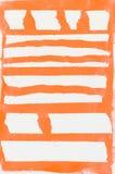 Orande malował pasiastego tło Obrazy Royalty Free