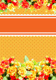 Orang Card for Event illustration Royalty Free Stock Photo