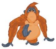 Orang-outan avec émotion illustration stock