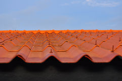 Orang roof-tiles. In Thailand,Asia stock photo