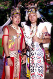 Orang Ulu战士 库存图片