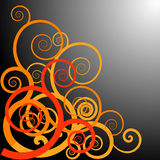 Orang ulu motif spirals Stock Photography