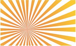 Orang and whit ray burst background. When sun bursts. The rays are illustrated Royalty Free Stock Photography