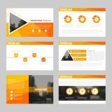 OrangAbstract presentation templates, Infographic elements template flat design set for annual report brochure flyer leaflet. Orange Abstract presentation stock illustration