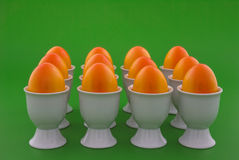 orange ägg Arkivfoto