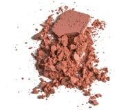 Orange écrasée par maquillage de poudre Images libres de droits