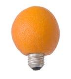Orange électrique Photo libre de droits