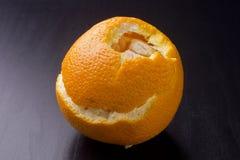 Orange épluchée image stock
