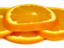 Orange. Macro photo of orange slices isolated on white Stock Image