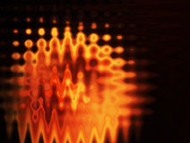 Orange. Waves over black background.  abstract illustration Royalty Free Stock Photos