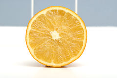 Orange. A Half Orange On Closeup Royalty Free Stock Photo