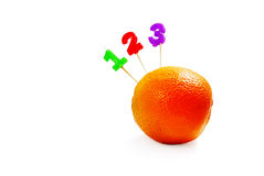 Orange 123 Photo stock