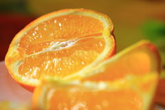 Orange. Citrus orange lies on a table Stock Photos