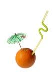 Orange. On white background, photo, umbrella,tubule Stock Photo