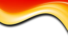 Orange. And yellow waves over white background Stock Images