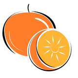 Orange. Illustration of orange on white background Stock Photography
