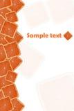 Orange. Background of bright orange square ripe Stock Images