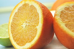 Orange. Nice orange and lemon arrangement Stock Images