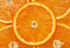 Orange. Bright orange background from slices of juicy oranges Royalty Free Stock Images