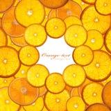 Orange. Bright orange background from slices of juicy oranges Stock Photos