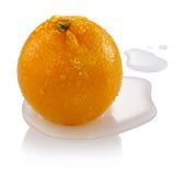 Orange. Close up ripe orange with water Royalty Free Stock Photos