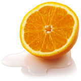 Orange. Close up cut orange with water Royalty Free Stock Photography