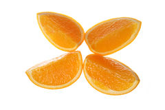 Orange. Appetizing slices of orange isolated on white background Stock Photography