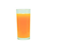 Orange. In glass on a white background royalty free stock photography