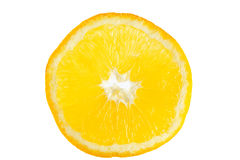 Orange. Half cut orange on white background Royalty Free Stock Photos