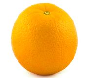 Orange. A fresh orange isolated on a white background royalty free stock photo