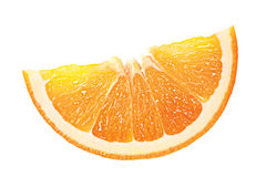 Orange. One isolated piece of orange stock image