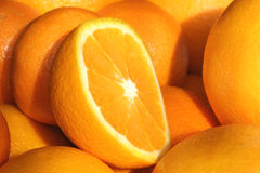 Orange. Close up fruit orange – detail Stock Photo