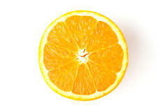 Orange. One white isolated background Royalty Free Stock Photography