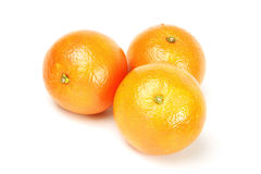 Orange. Fresh orrange isolated on the white background Royalty Free Stock Photo