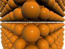 Orange 3d shpere field Stock Images